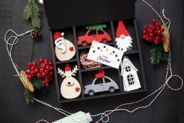 Набір дерев'яних іграшок в коробці Merry Christmas